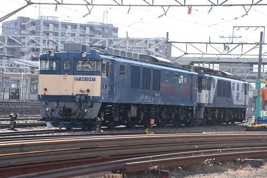2020年29日撮影 南松本にて EF64-1047+1011号機