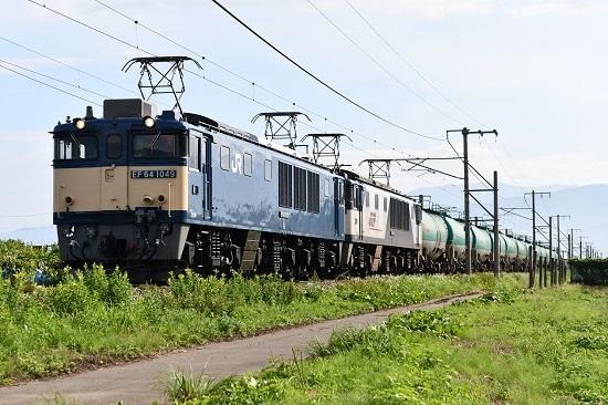 2020年8月10日撮影 西線貨物6088レ EF64-1049+1011号機
