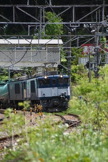 2020年5月23日撮影 西線貨物8084レ 木曽平沢駅発車