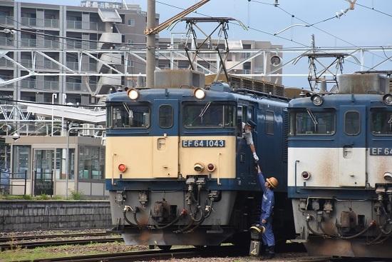 2020年8月1日撮影 南松本にて篠ノ井線8467レ 機回し 無線機渡し