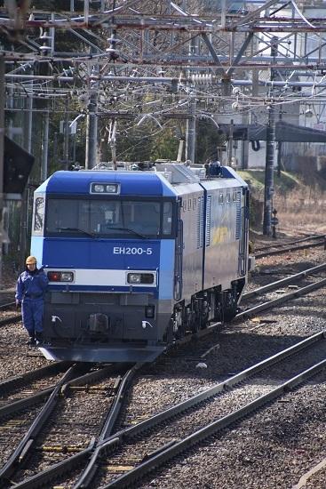 2020年3月15日撮影 南松本にて東線貨物2080レ EH200-5号機の機回し