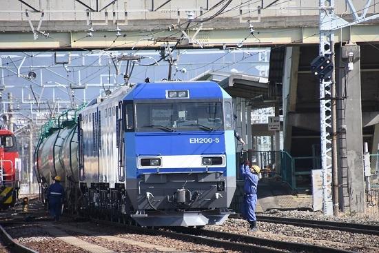 2020年3月15日撮影 南松本にて東線貨物2080レ EH200-5号機無線機返却