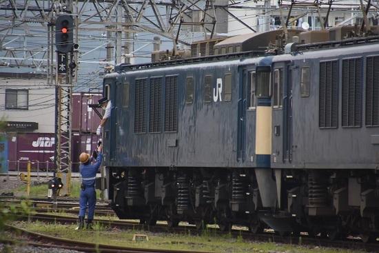 2020年8月1日撮影 南松本にて篠ノ井線8467レ 機回し 無線機返却