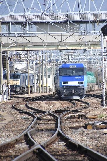 2020年3月15日撮影 東線貨物2080レ 発車待ち