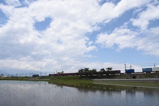 2020年5月23日撮影 東線貨物2083レ 水鏡 ワイドにて