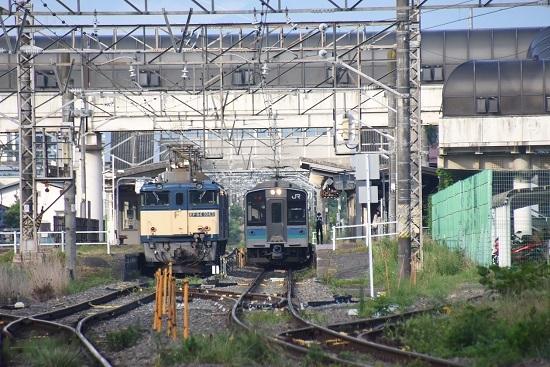 2020年8月1日撮影 篠ノ井線8467レ 明科駅にて並び