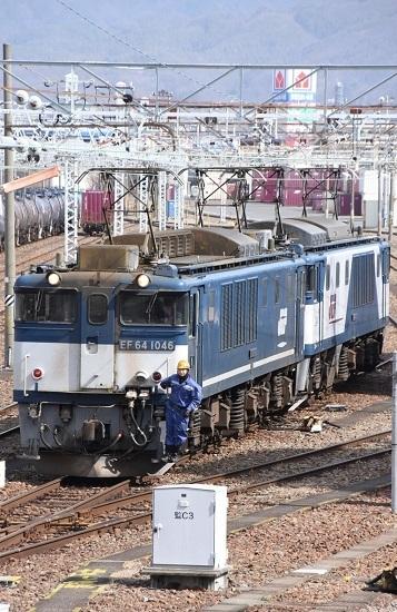 2020年3月21日撮影 南松本にて 西線貨物8084レ 機回し