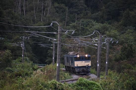 2020年9月19日撮影 篠ノ井線8467レ 坂北カーブを正面から