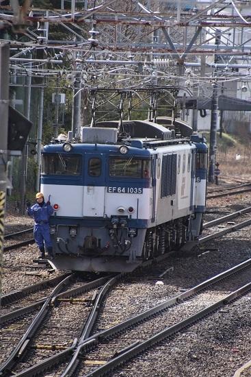 2020年3月21日撮影 南松本にて西線貨物8084レ 機回し中