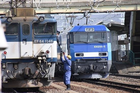 2020年3月21日撮影 南松本にて西線貨物8084レ 機回しにて無線機返却