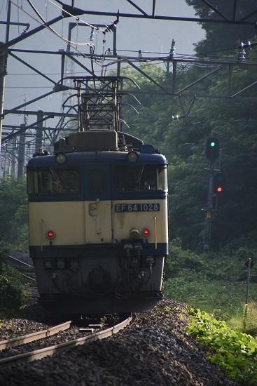 2020年8月1日撮影 篠ノ井線8467レ 後撃ちにてEF64-1028号機の顔の汚れ