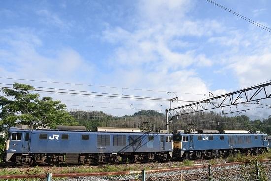 2020年8月1日撮影 篠ノ井線8467レ EF64原色重連 坂北駅