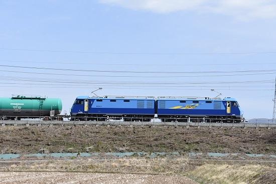 2020年3月21日撮影 東線貨物2080レ EH200-5号機 サイドから