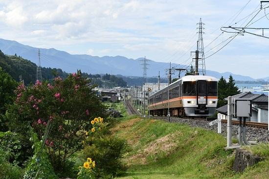 2020年8月10日撮影 飯田線は373系回送駒ケ根行き 40‰駆け上がり