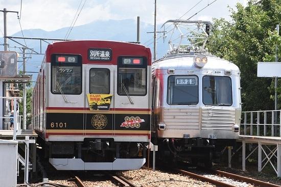 2020年8月1日撮影 上田電鉄城下駅にて 6000系と5200系