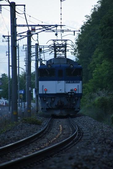 2020年5月30日撮影 篠ノ井線8467レ 平瀬にて EF64-1035号機