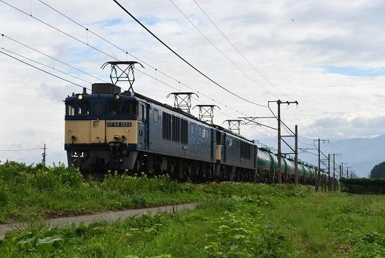 2020年8月12日撮影 西線貨物6088レ EF64-1023+1044号機