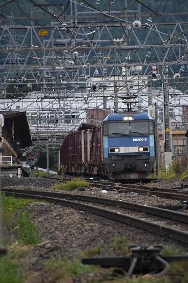 2020年9月19日撮影 東線貨物2083レ 塩尻駅3番線通過