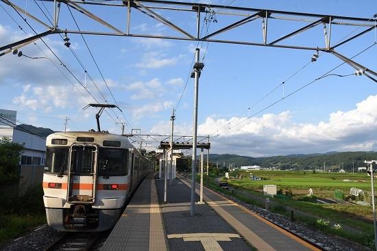2020年8月1日撮影 飯田線は伊那新町駅にて313系1700番台 B151編成回送