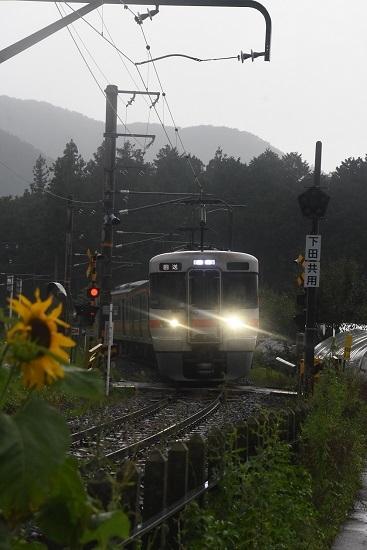 2020年8月2日撮影 飯田線は羽場駅にて回送 313系1700番台 B153編成