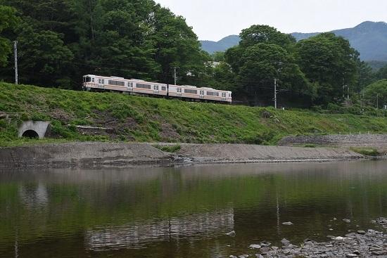 2020年5月31日撮影 飯田線と天竜川 1408M 313系