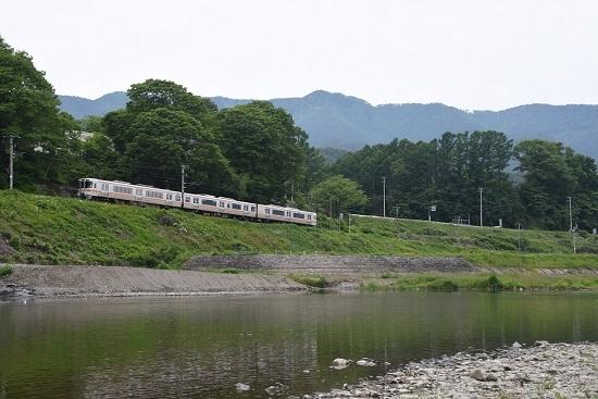 2020年5月31日撮影 飯田線と天竜川 210M 313系1700番台