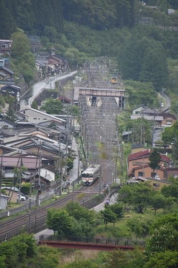 2020年5月31日撮影 奈良井俯瞰 1831M 313系 奈良井駅進入