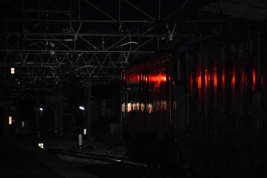2020年4月2日撮影 東線貨物89レ 信号で赤く染まる