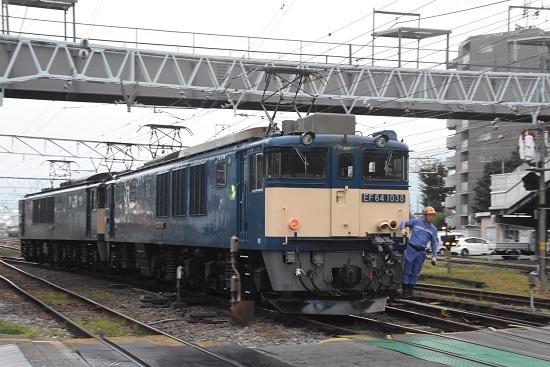 2020年8月8日撮影 南松本にて西線貨物6089レ機回し