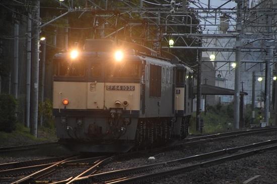 2020年8月8日撮影 南松本にて西線貨物6089レ機回し バック運転