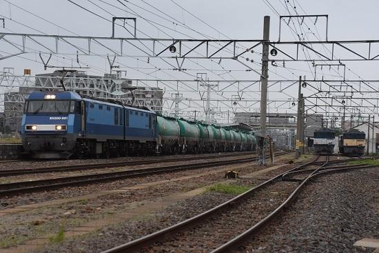 2020年6月6日撮影 南松本にて 篠ノ井貨物8467レと坂城貨物5463レ EH200-901号機