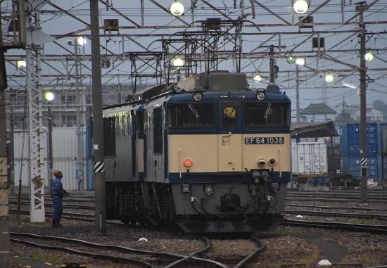 2020年8月8日撮影 南松本にて西線貨物6089レ機回し寝床到着