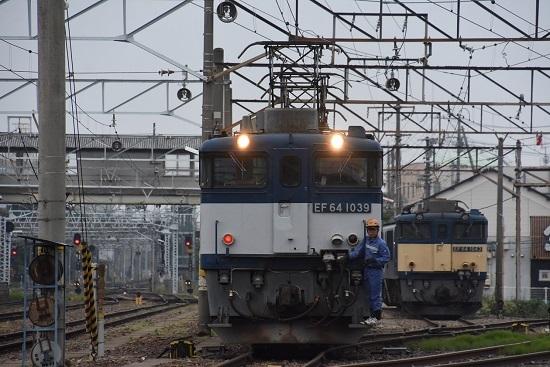 2020年6月6日撮影 南松本にて 篠ノ井線8467レ EF64-1039号機 機回し開始