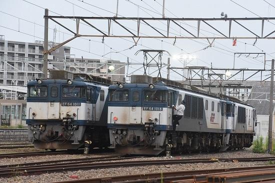 2020年8月8日撮影 南松本にて EF64-1018号機と1011号機の並び