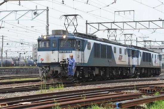 2020年8月8日撮影 篠ノ井線8467レ 誘導員さんが来て機回し開始