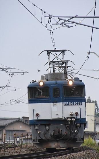 2020年6月6日撮影 篠ノ井線8467レ 正面からEF64-1039号機