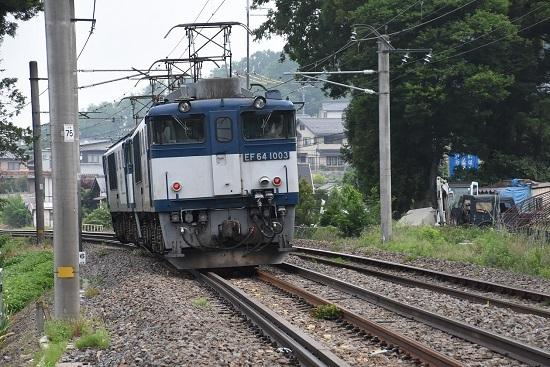 2020年6月6日撮影 篠ノ井線8467レ 後撃ちにてEF64-1033号機