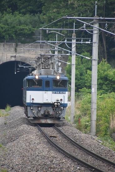 2020年6月6日撮影 篠ノ井線 8467レ EF64 西条トンネル飛び出し