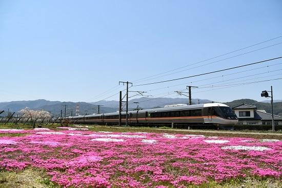 2020年5月2日撮影 中央西線 芝桜と1007M 383系「WVしなの7号」