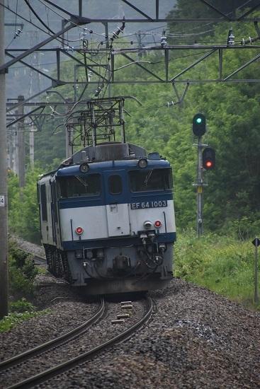 2020年6月6日撮影 篠ノ井線 8467レ EF64 西条トンネル後撃ち