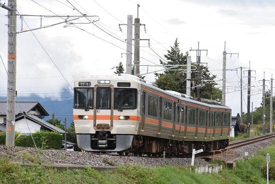 2020年9月16日撮影 飯田線は40‰にて回送 313系1700番台 B153編成