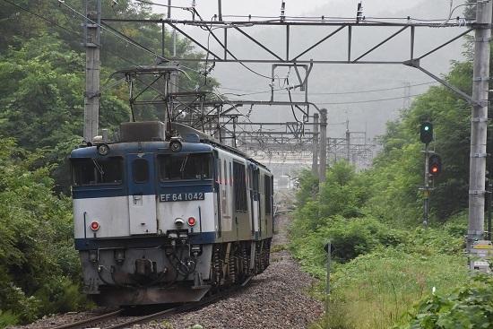 2020年8月8日撮影 篠ノ井線8467レ EF64重単 後撃ち