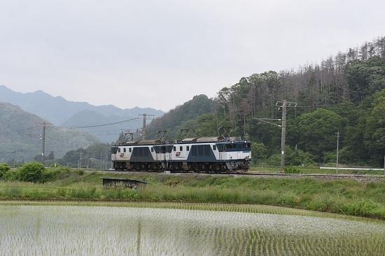 2020年6月6日撮影 6日撮影 篠ノ井線8467レ 坂北のカーブを行くEF64-1039+1003号機
