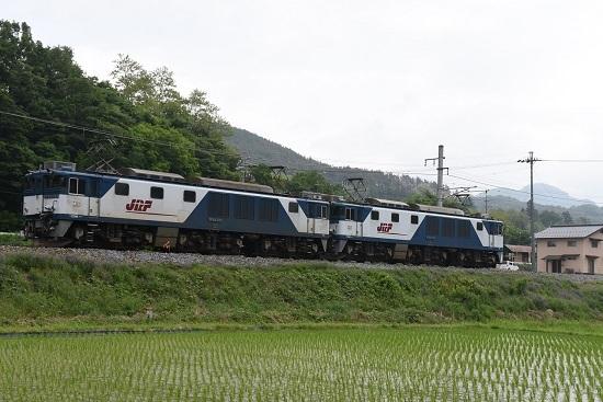 2020年6月6日撮影 篠ノ井線8467レ 坂北のカーブにて後撃ちでEF64-1003号機
