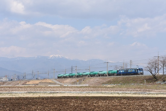 2020年4月4日撮影 東線貨物2080レ EH200-10号機 緑タキ返空