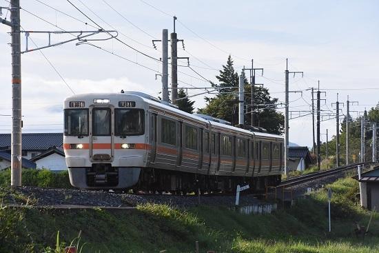 2020年9月17日撮影 飯田線は40‰にて211M 313系1700番台 B151編成
