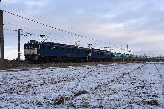 2020年12月19日撮影 西線貨物6088レ EF64原色重連