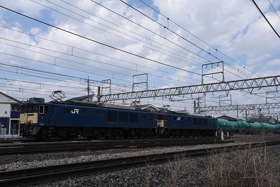 2020年4月4日撮影 西線貨物8084レ EF64-1034+1025号機 原色重連