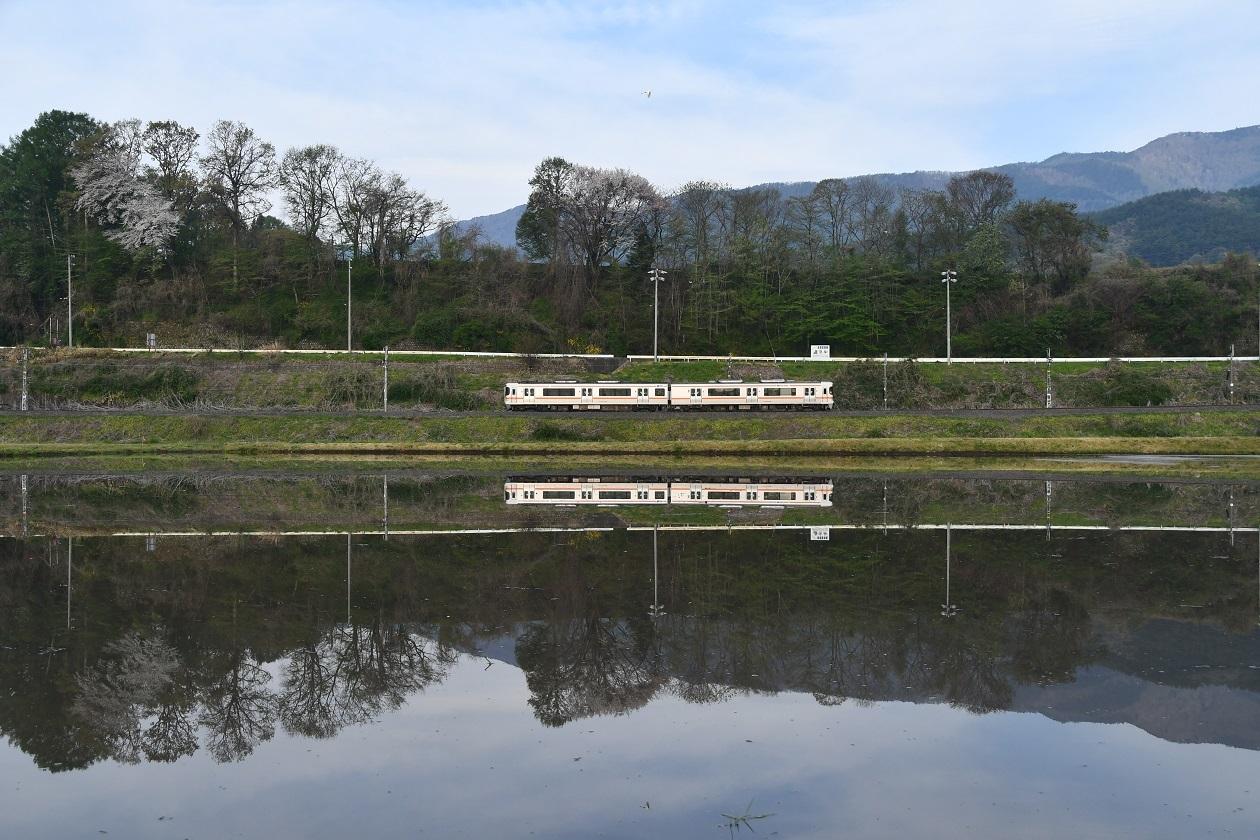 2020年5月3日撮影 飯田線1403M 313系水鏡