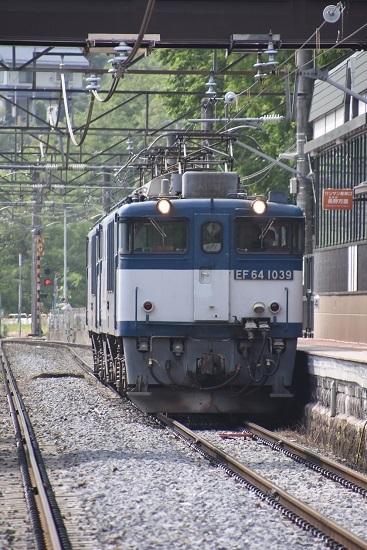 2020年6月6日撮影 篠ノ井線8467レ 姨捨駅にてEF64-1039号機を正面から